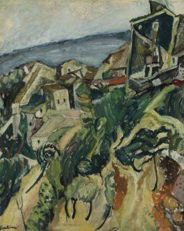 Chaim Soutine-Maisons Au Bord De Mer-1918