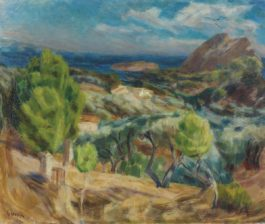 Eugene Ebiche - Paysage De Provence