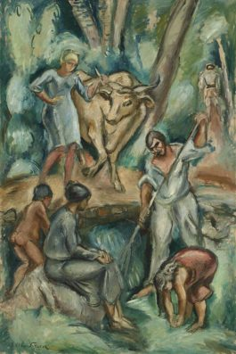 Othon Friesz-Les Paysans En Italie-1921