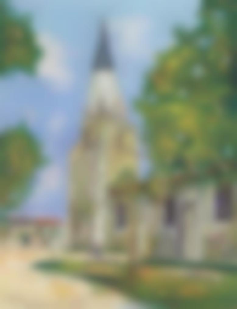 Maurice Utrillo-Eglise Sainte-Marie, Ille De Re (Charente-Inferieure)-1938