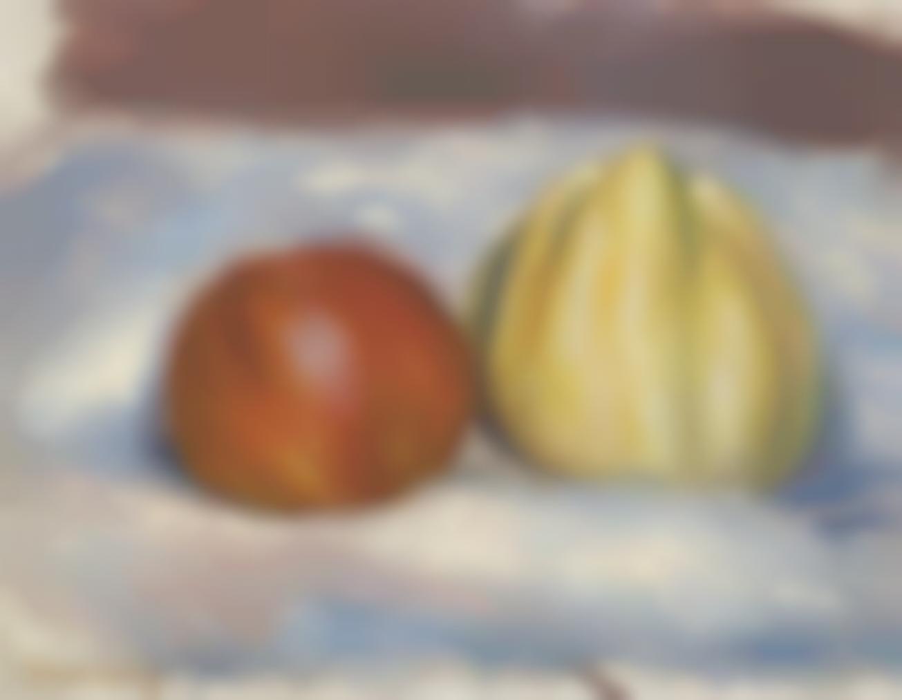 Pierre-Auguste Renoir-Nature Morte Aux Deux Pommes-1905
