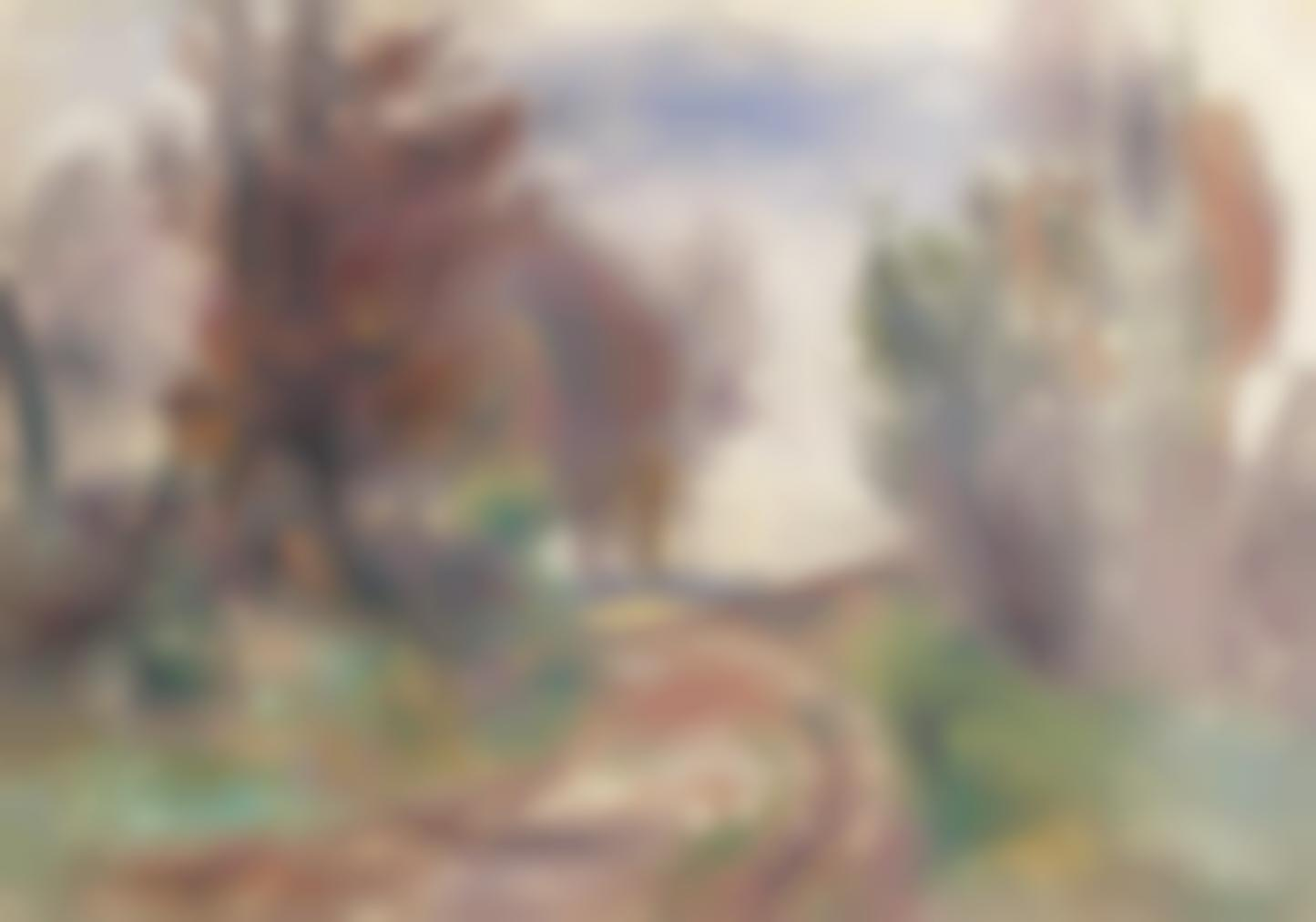 Pierre-Auguste Renoir-Paysage, Chemin A La Sortie Dun Bois-1900