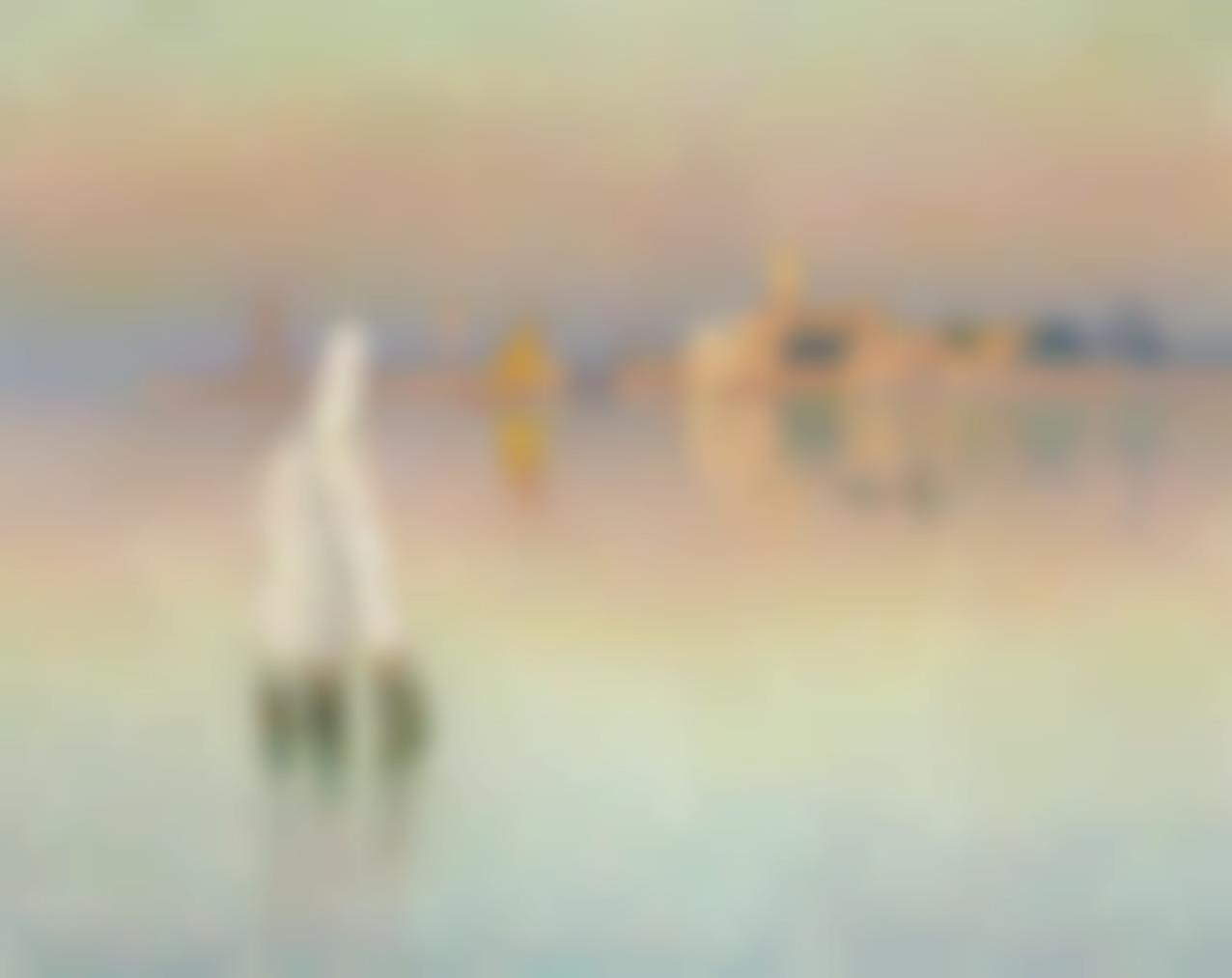 Emile Claus - Vue Sur Murano, Lueur Du Couchant-1906