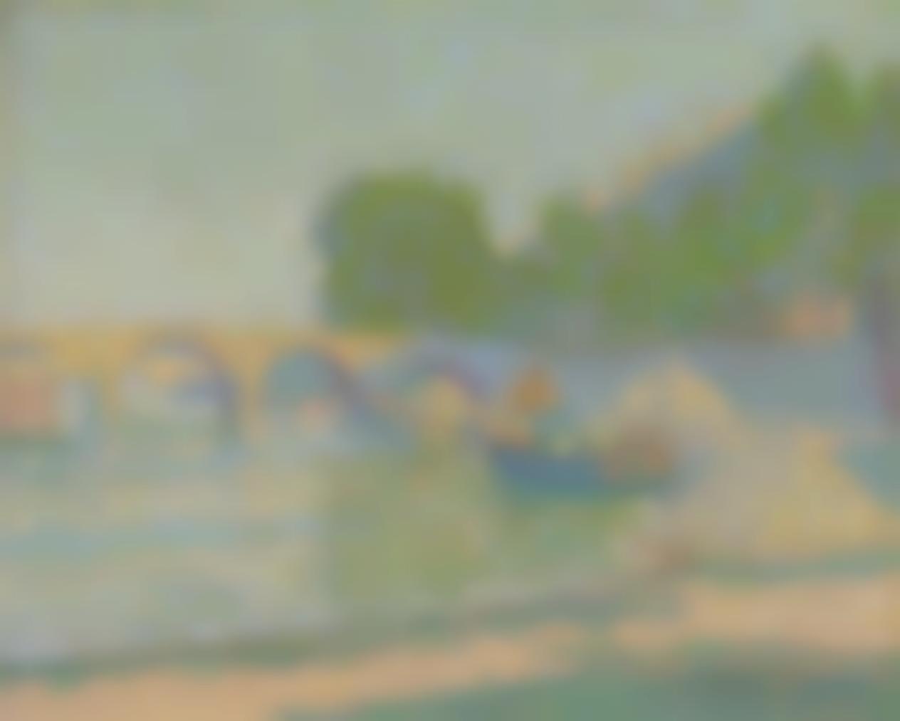 Jean Metzinger-Peniches Au Bord De La Seine-1904