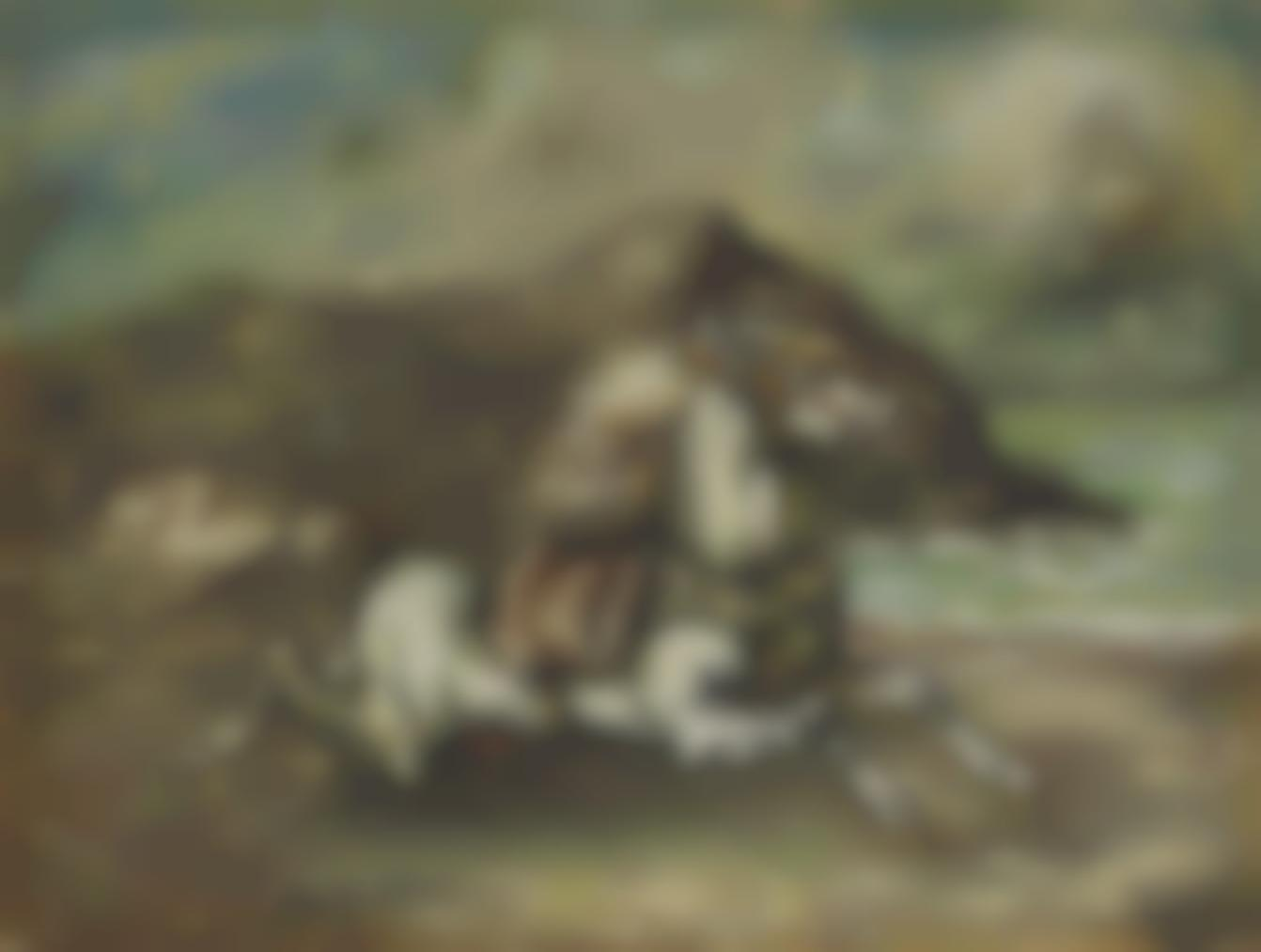 Giorgio de Chirico-Cavallo Fuggente-1955