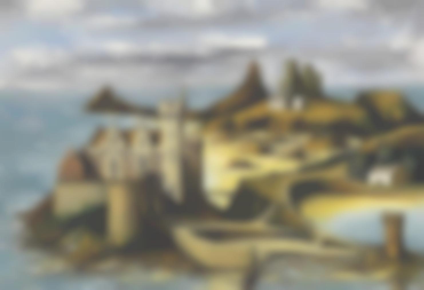 Bernard Buffet-Chateau En Cornouailles, Hommage A Walter Scott-1974