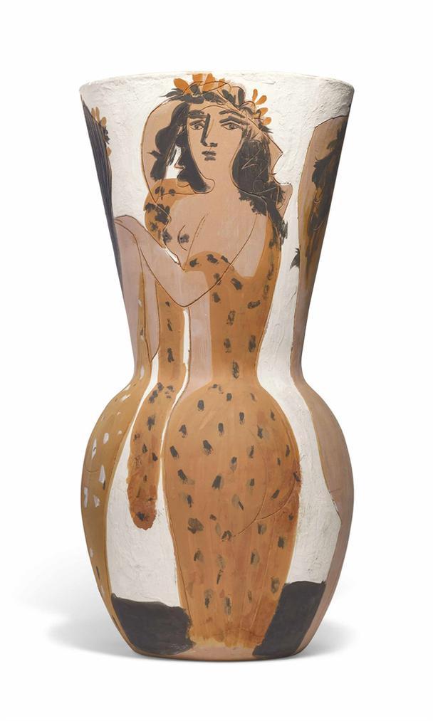 Pablo Picasso-Grand Vase Aux Femmes Voilees (Ar 116)-1954