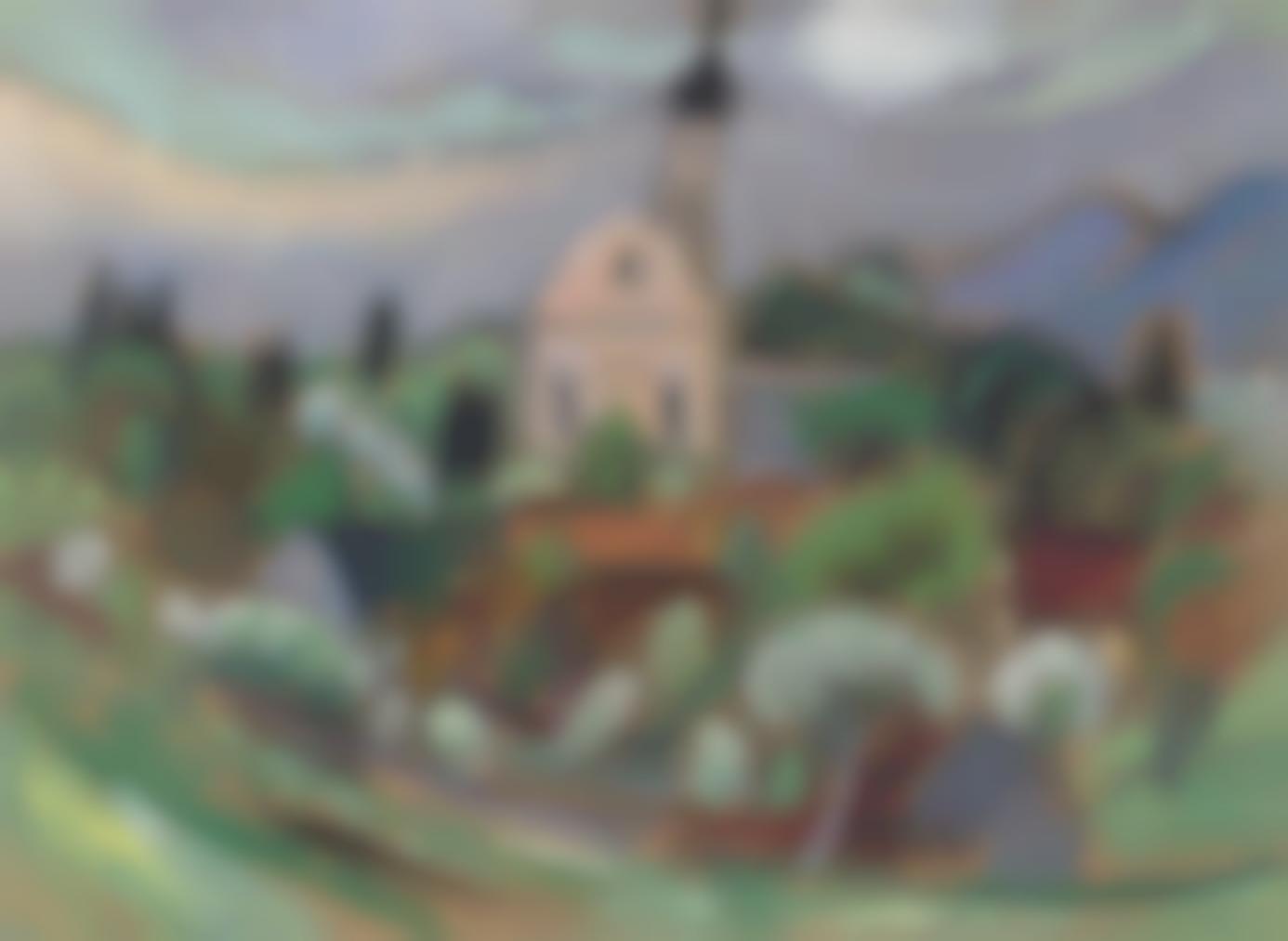 Gabriele Munter-Frulingsstudie Mit Kirche, Murnau-1924
