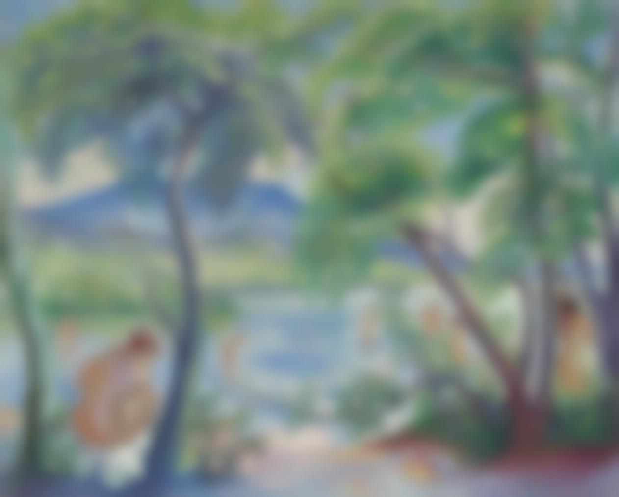 Henri Charles Manguin-Paysage Aux Baigneuses, Colombier-1917