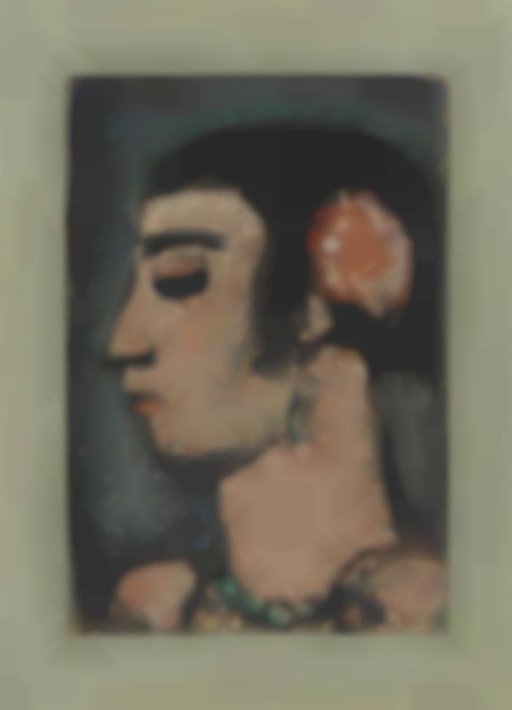 Georges Rouault-Femme A La Fleur Rose (Profil)-1930