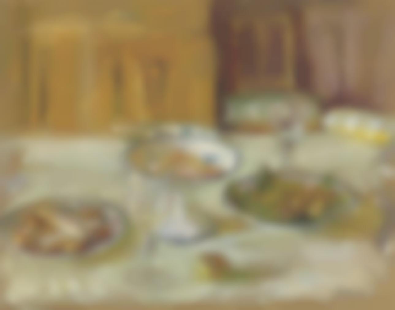 Edouard Vuillard-Compotier De Biscuits Et Fruits Sur La Table-1915