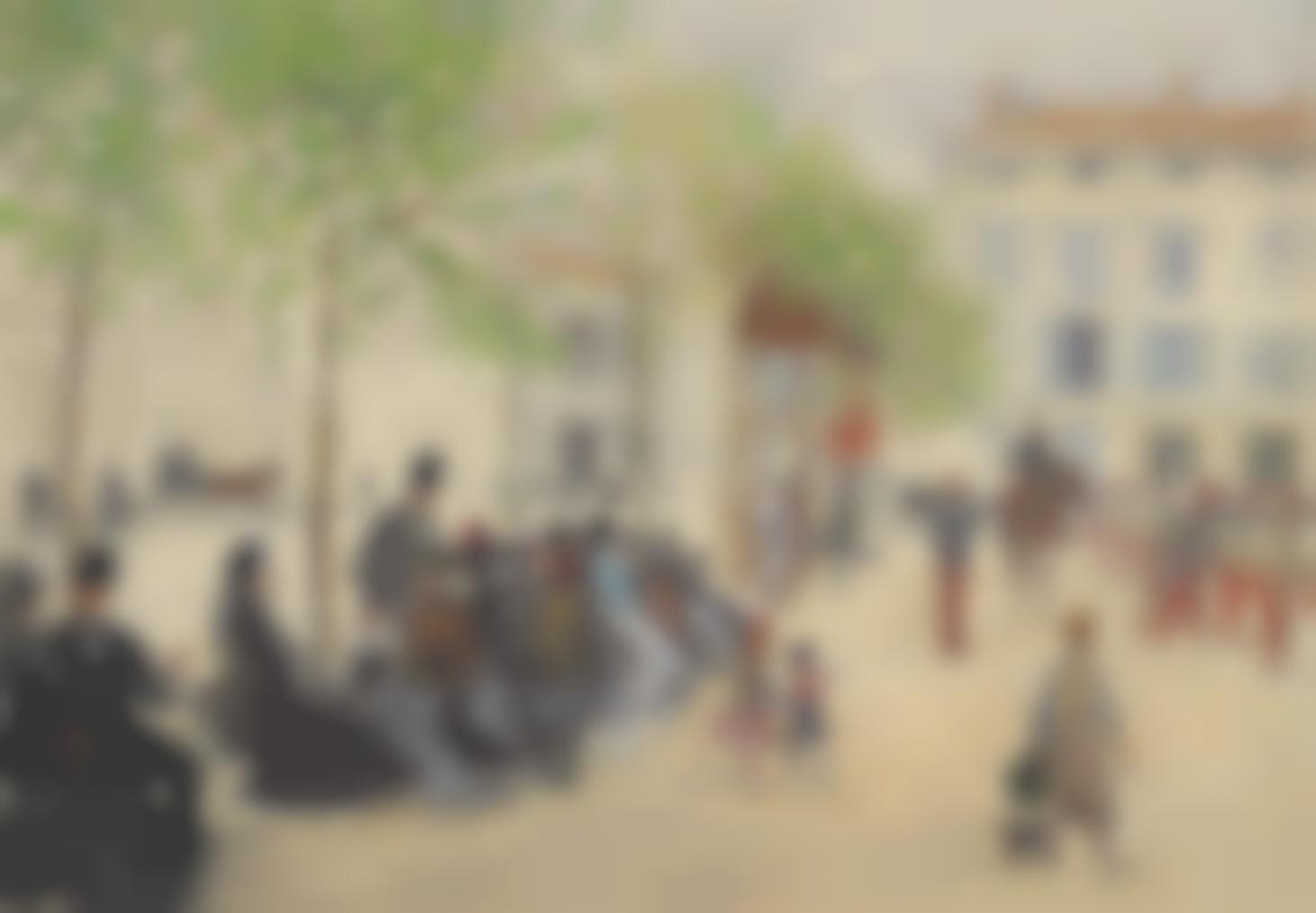 Jean-Francois Raffaelli-La Place Monge A Paris-