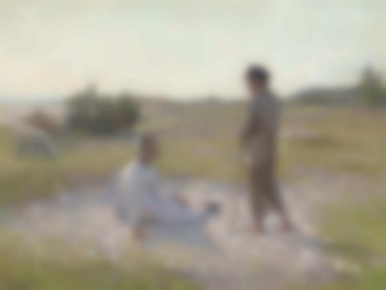 Henri Eugene Le Sidaner-Sur Les Dunes, Etaples-1888