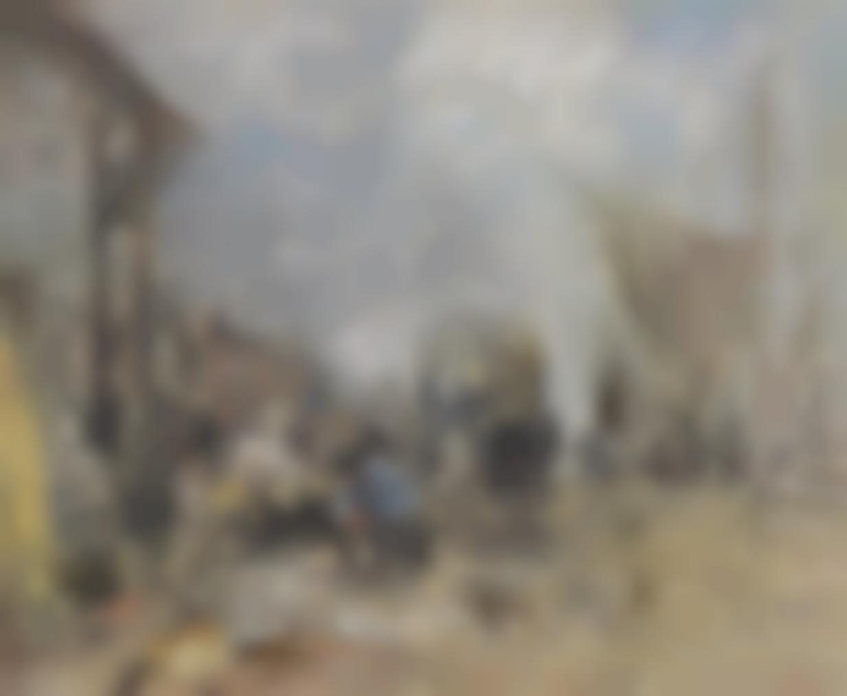 Eugene Louis Boudin-Marche Aux Poissons, Trouville-1885