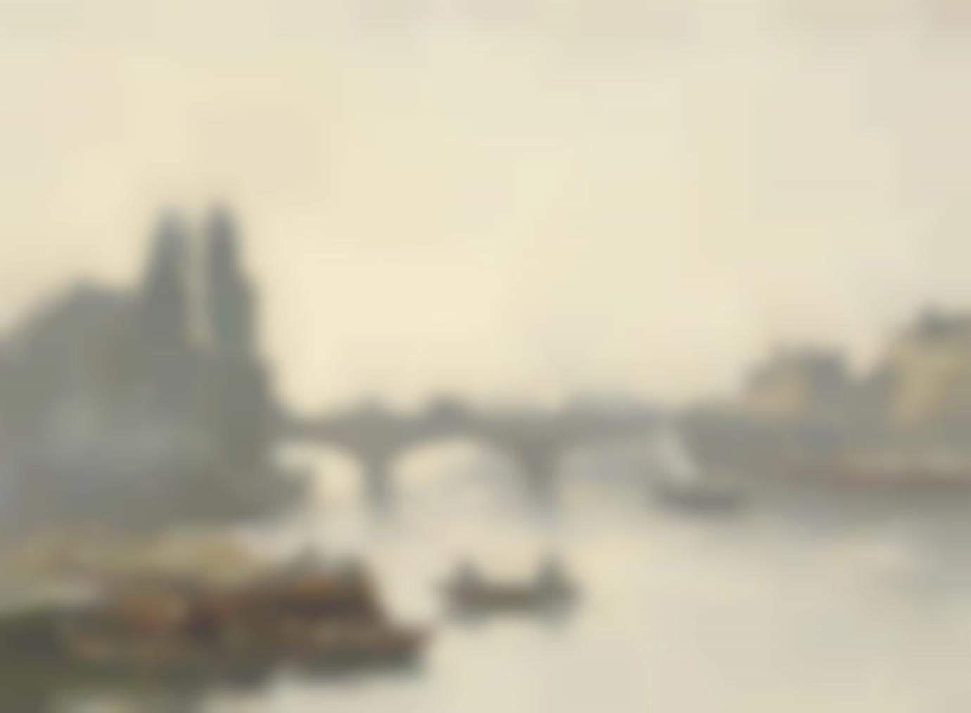 Eugene Louis Boudin-Le Pont Corneille, Rouen, Effet De Brouillard-1896