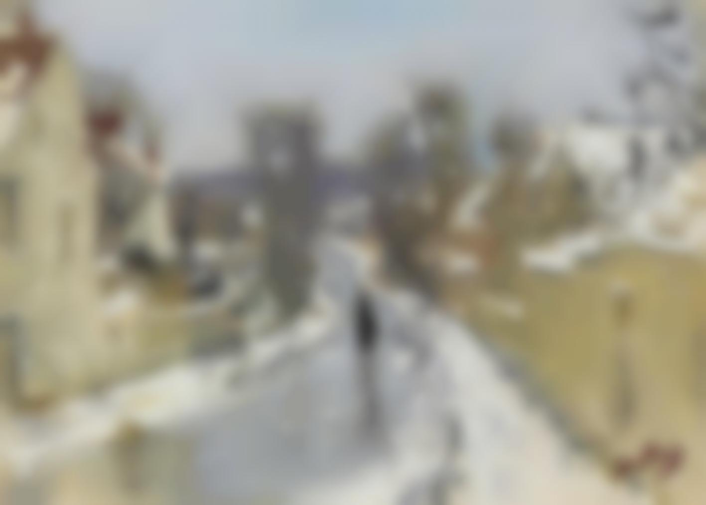 Pierre Eugene Montezin-Route Sous La Neige-