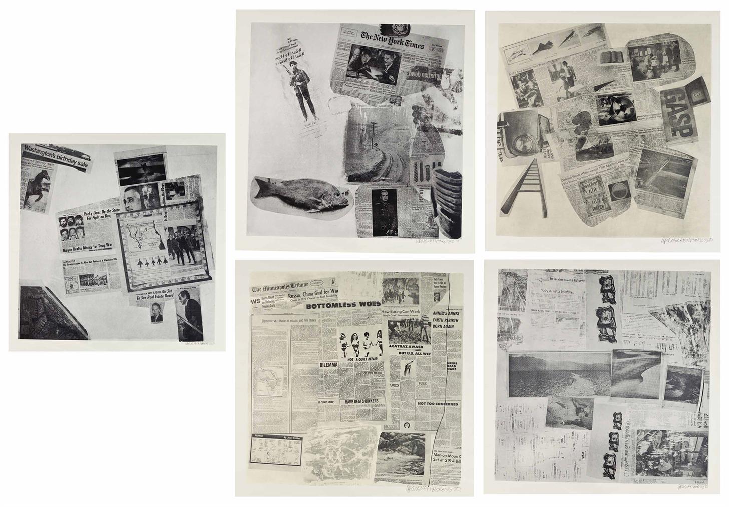Robert Rauschenberg-Features From Currents: Eighteen Plates-1970