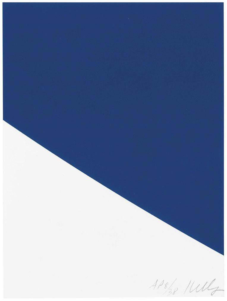 Ellsworth Kelly-Blue Curve-1999