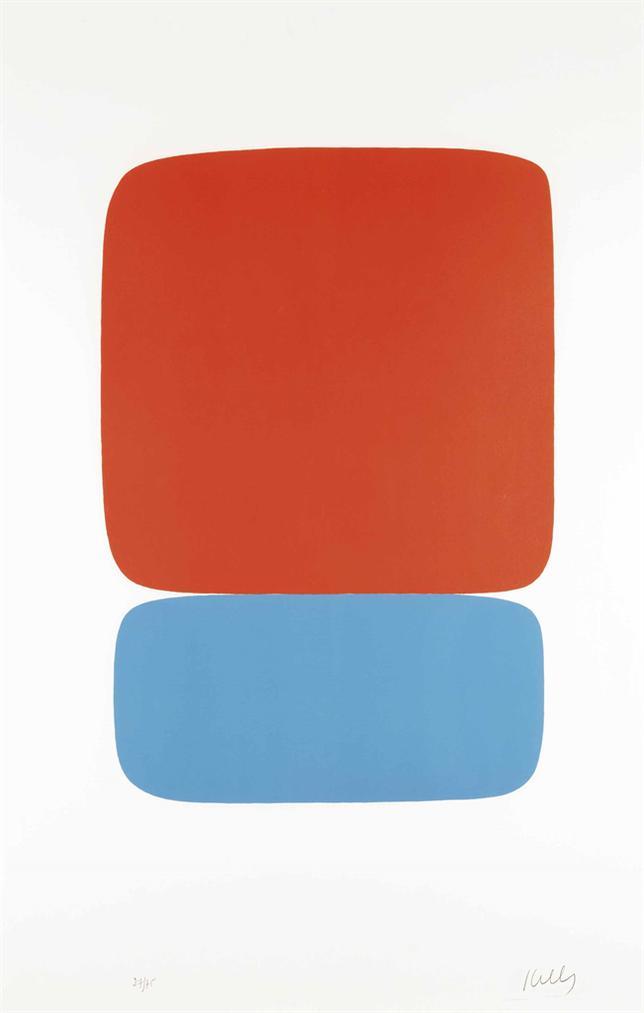 Ellsworth Kelly-Red-Orange Over Blue-1965