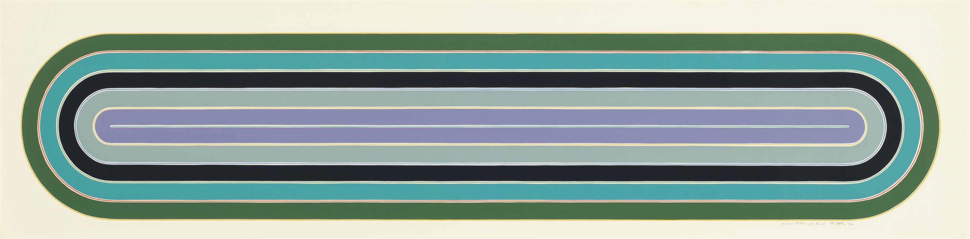 Frank Stella-Los Alamitos, From Race Track Series-1972
