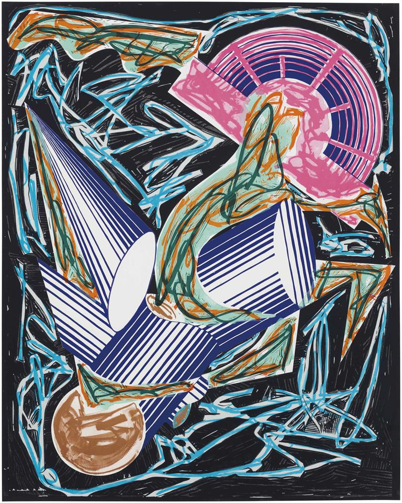Frank Stella-Front Cover, From Illustrations After El Lissitzkys Had Gadya-1984