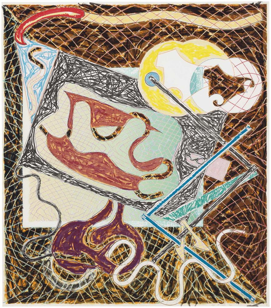 Frank Stella-Shards III-1982