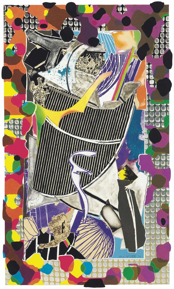 Frank Stella-The Battering Ram, From Moby Dick Deckle Edges-1993