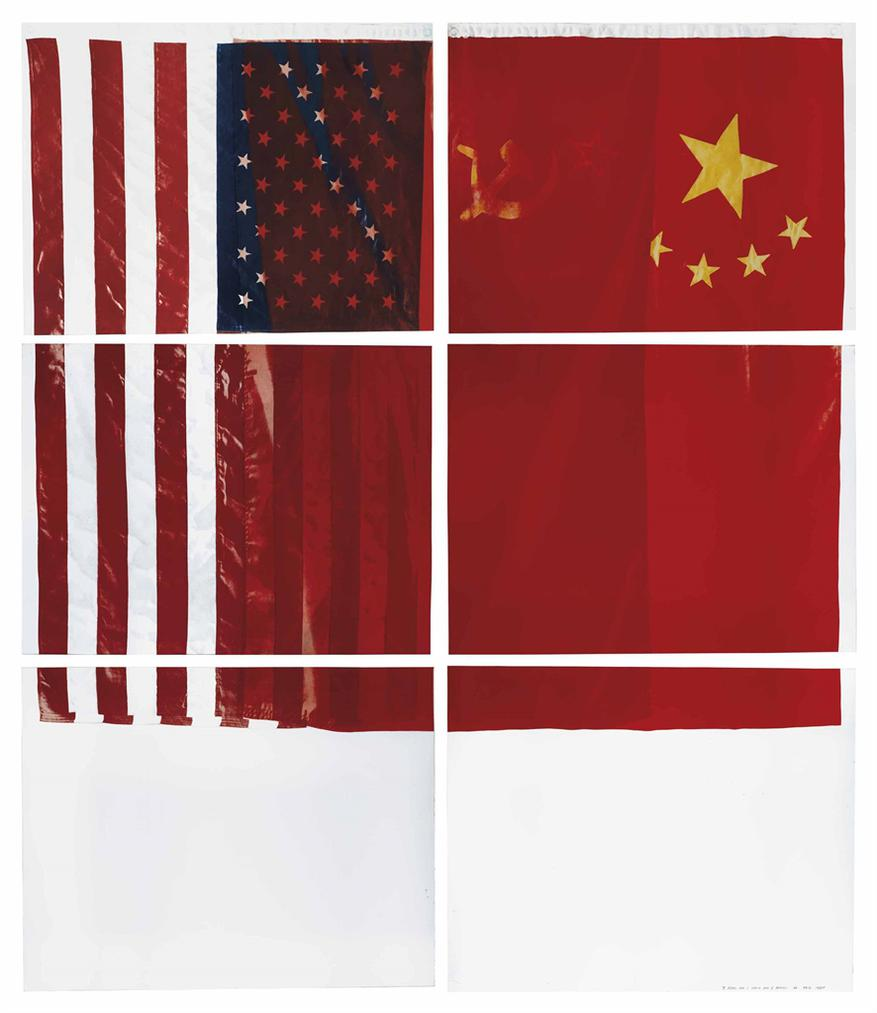 Vito Acconci-Three Flags For 1 Space And 6 Regions-1981