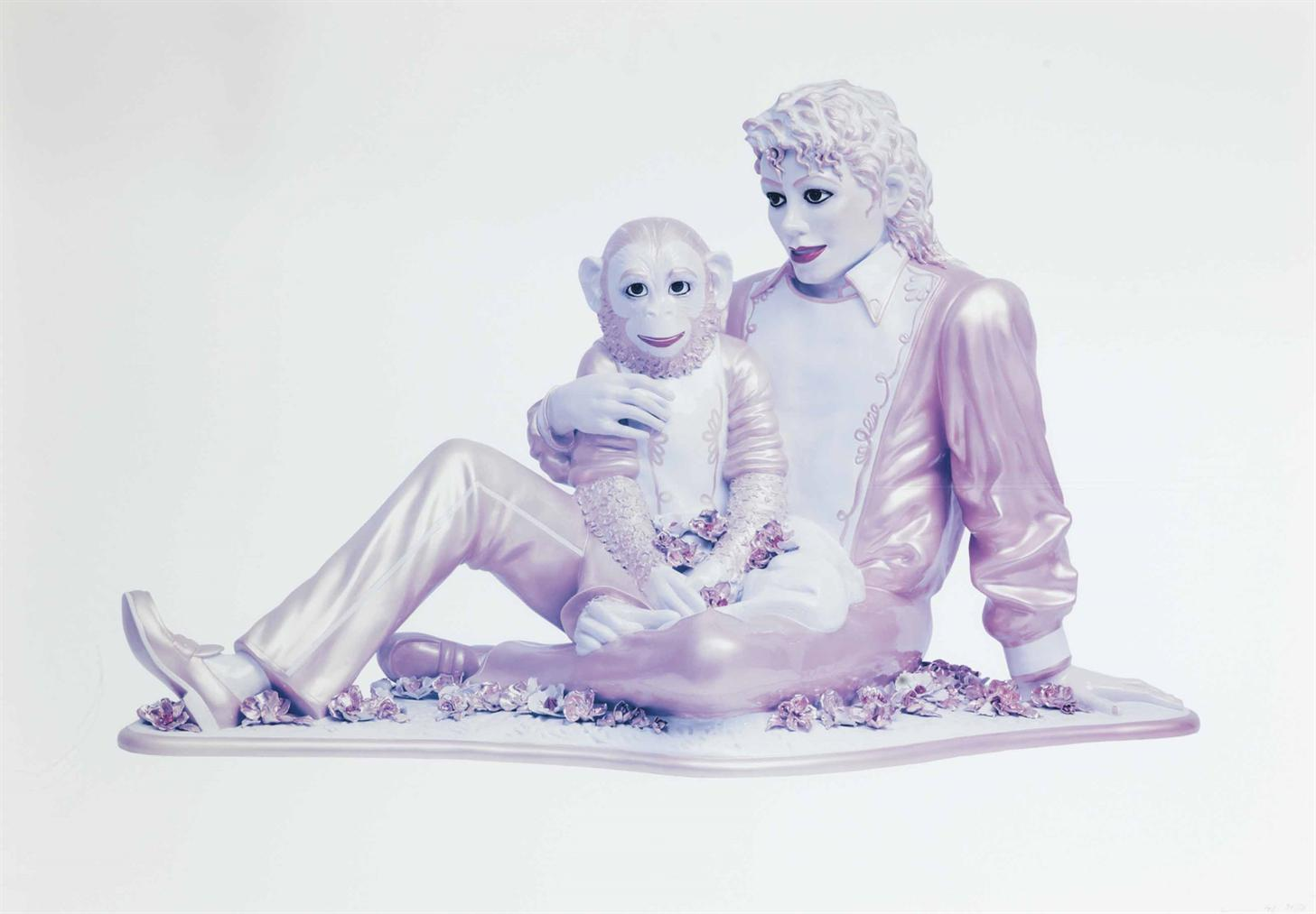 Jeff Koons-Michael Jackson And Bubbles, From Untitled (Portfolio)-1995