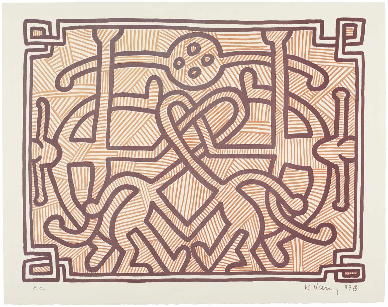 Keith Haring-Chocolate Buddha 2-1989