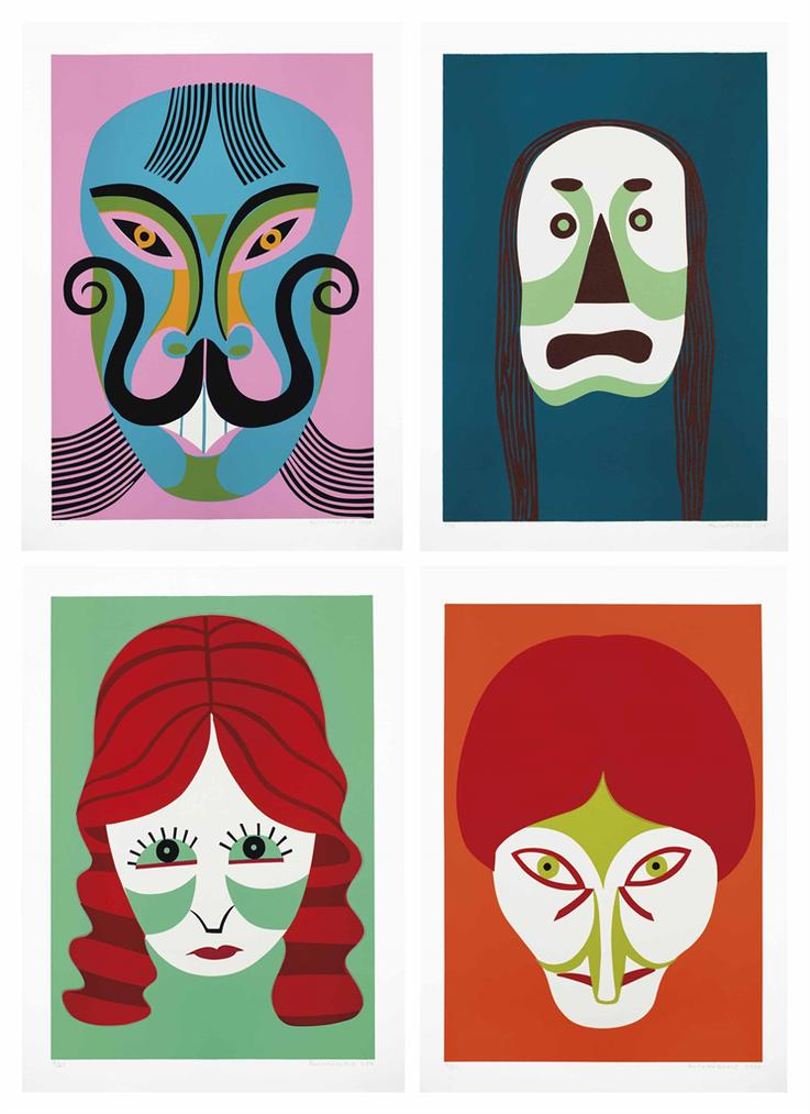 Christoph Ruckhaberle-Wall Of Masks-2006