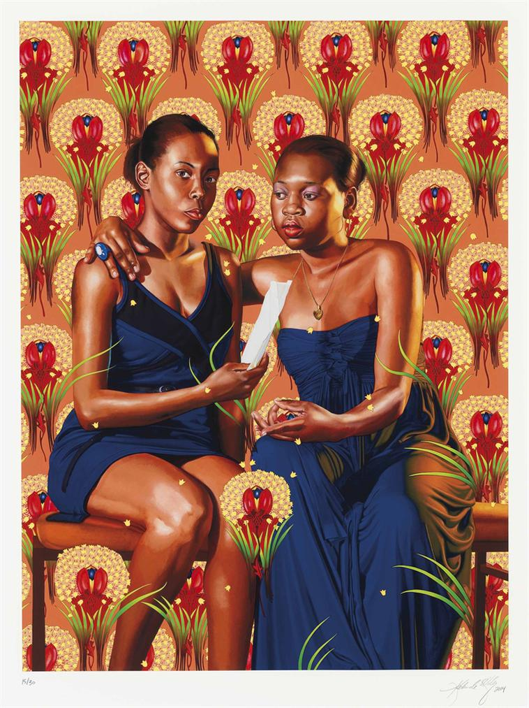 Kehinde Wiley-The Sisters Zenaide And Charlotte Bonaparte-