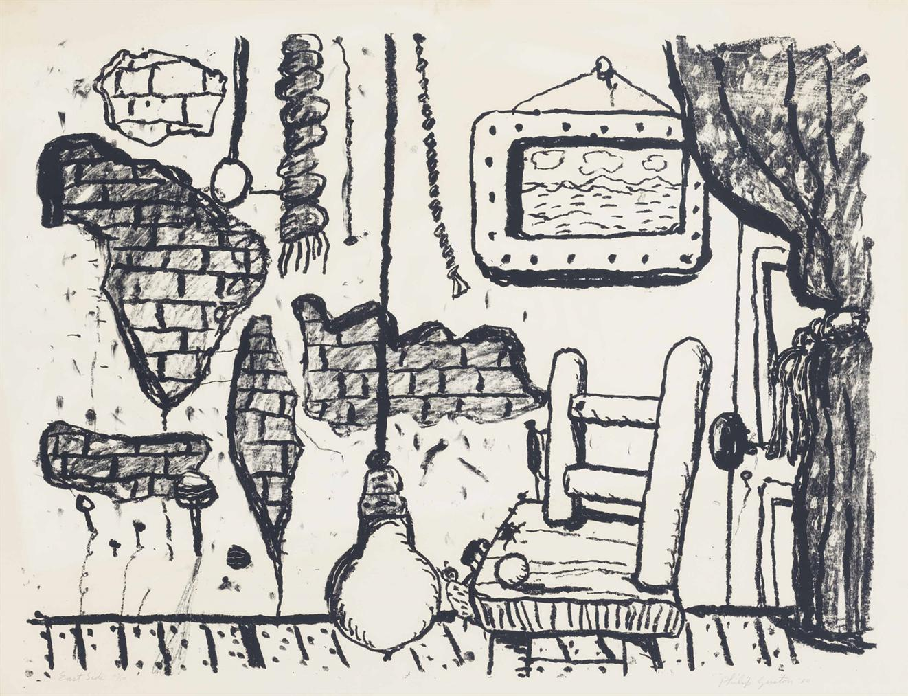 Philip Guston-East Side-1980