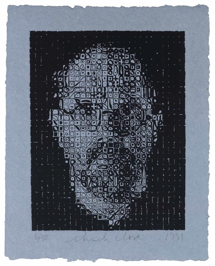 Chuck Close-Self-Portrait-1999