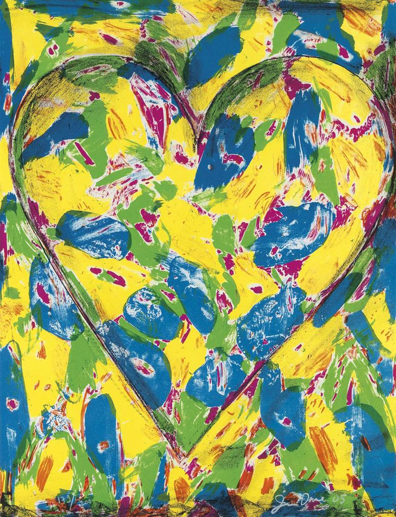 Jim Dine-Blue Heart; Flowers-2005