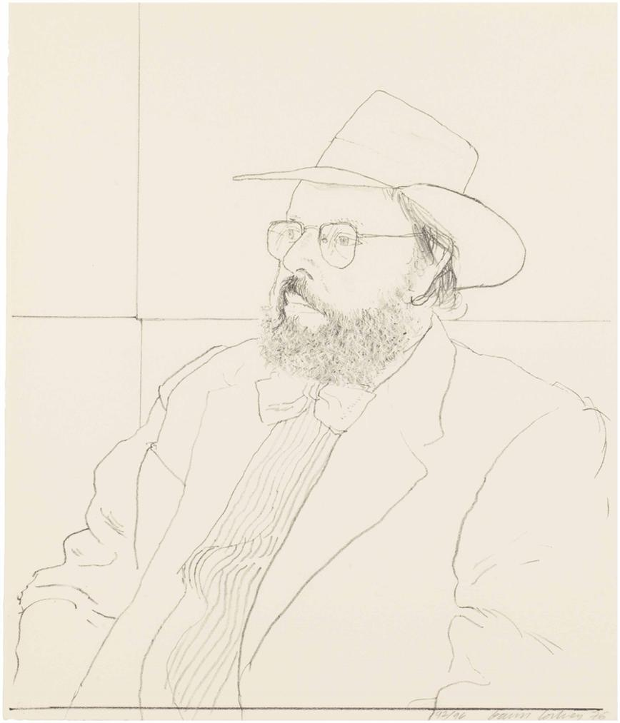David Hockney-Henry Geldzahler With Hat-1976