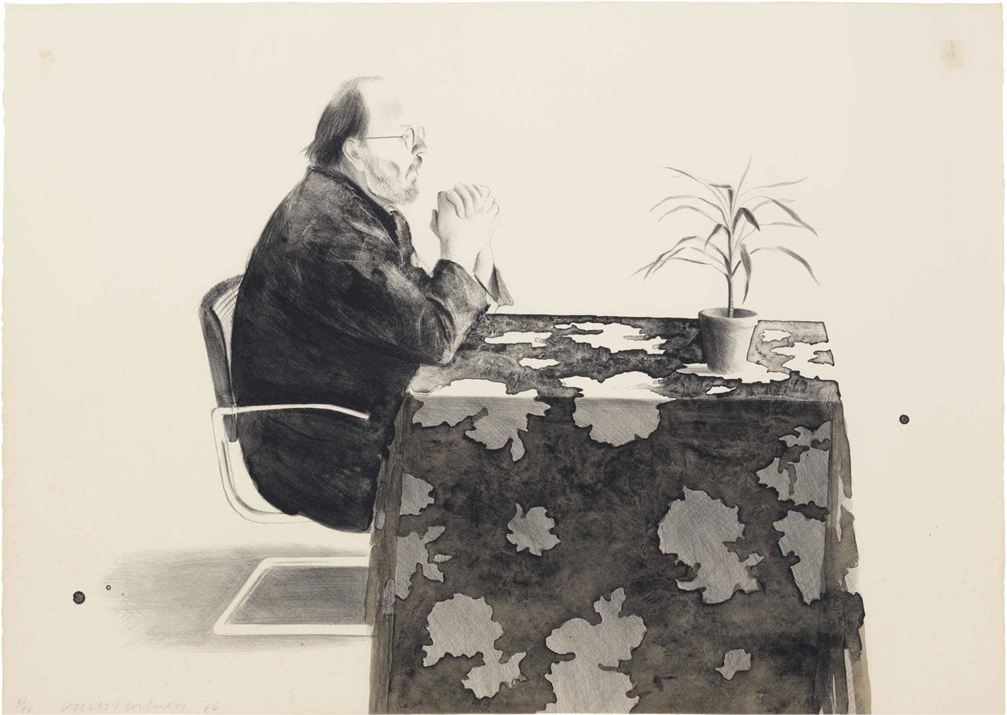 David Hockney-Henry At The Table-1976