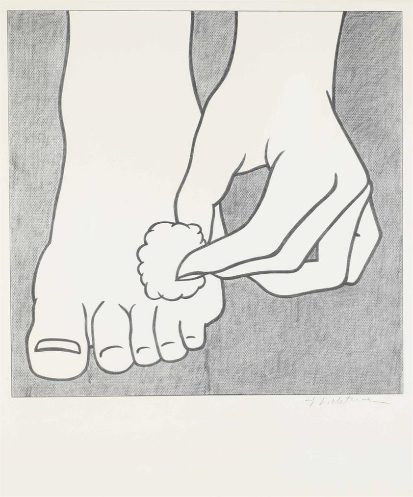 Roy Lichtenstein-Foot Medication Poster-1963