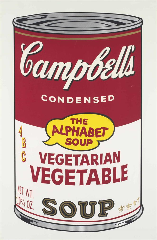 Andy Warhol-Vegetarian Vegetable, From Cambells Soup II-1969