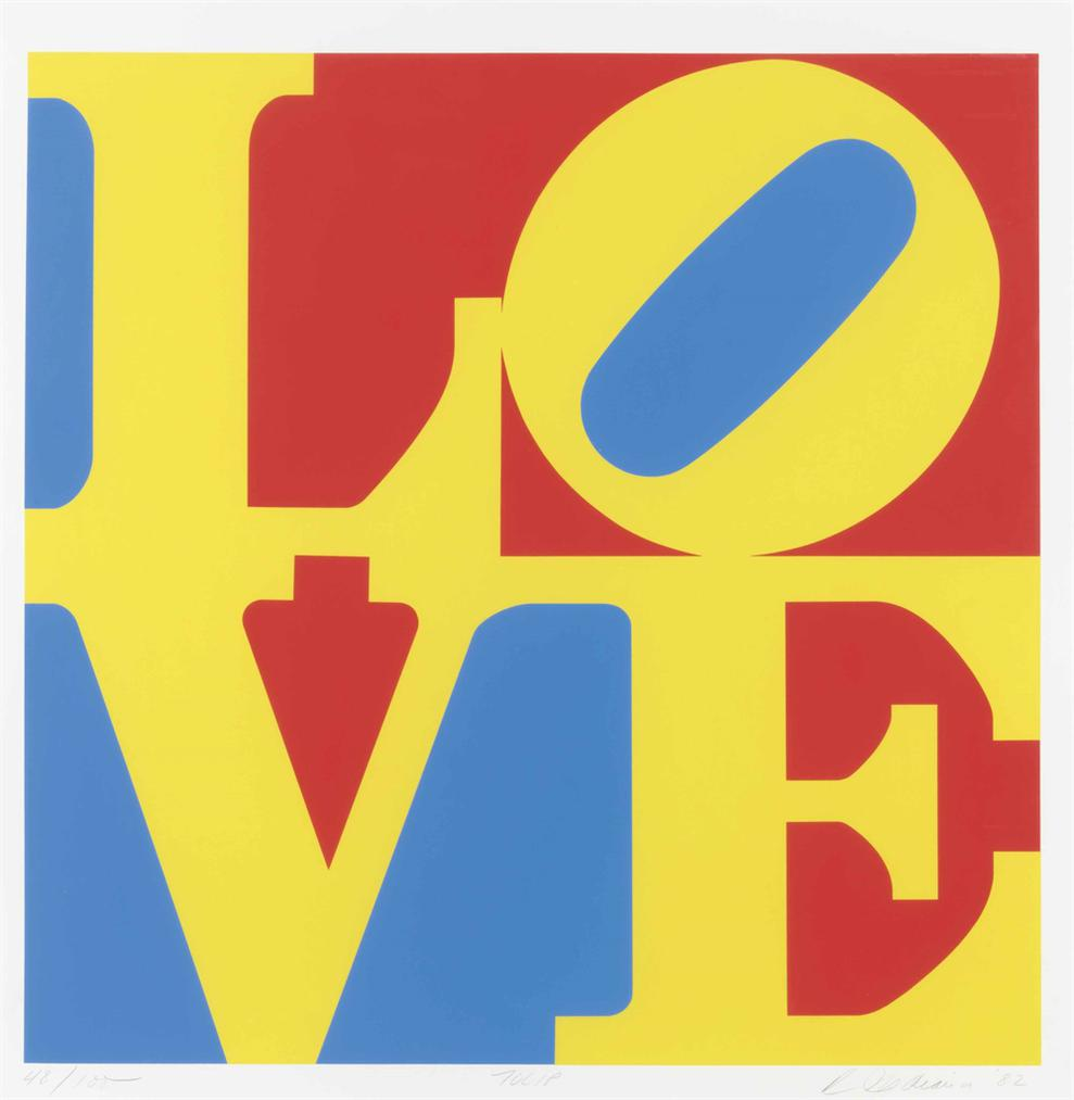 Robert Indiana-Tulip, From Garden Of Love-1982