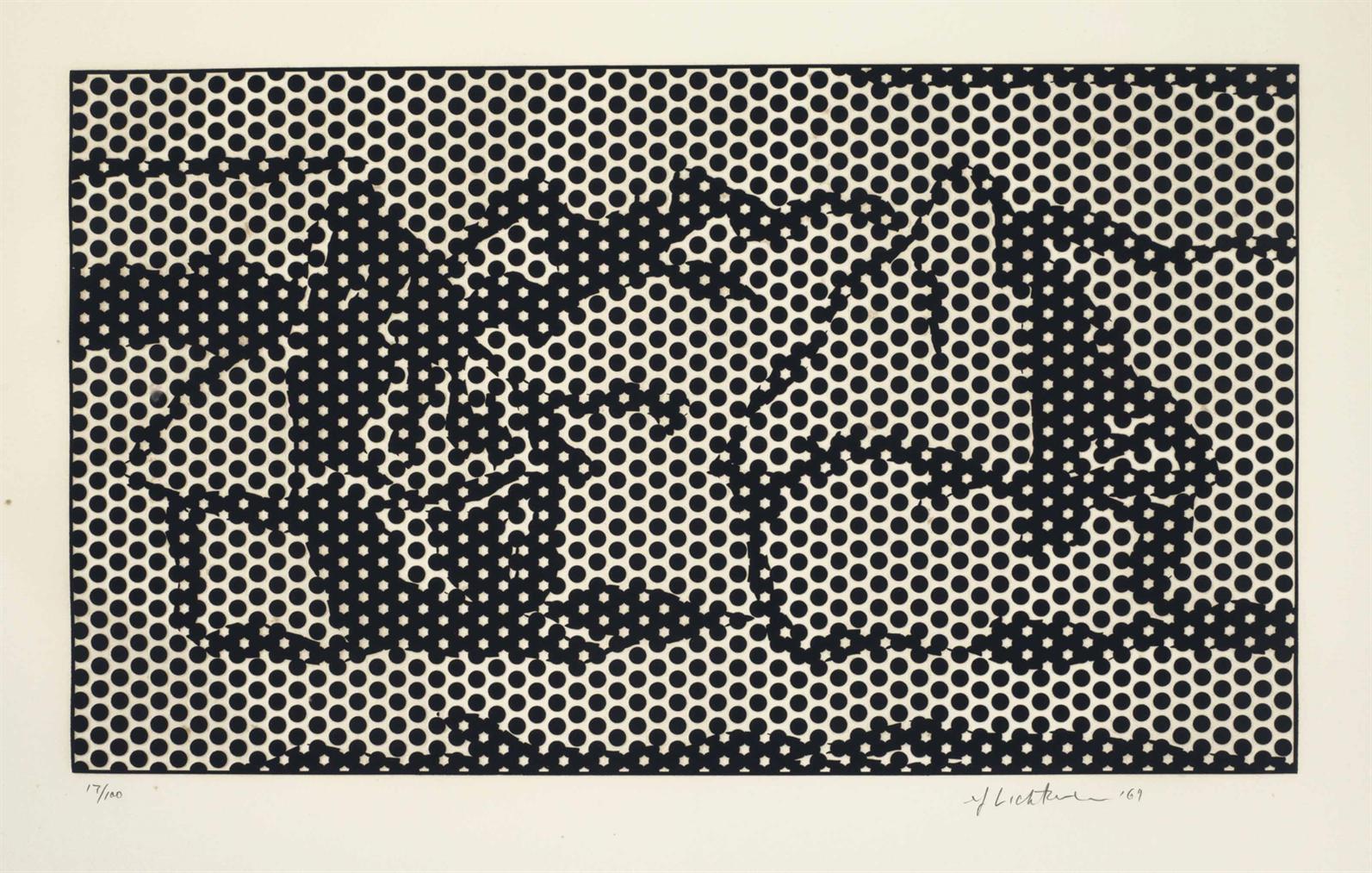 Roy Lichtenstein-Haystack #7, From Haystack Series-1969