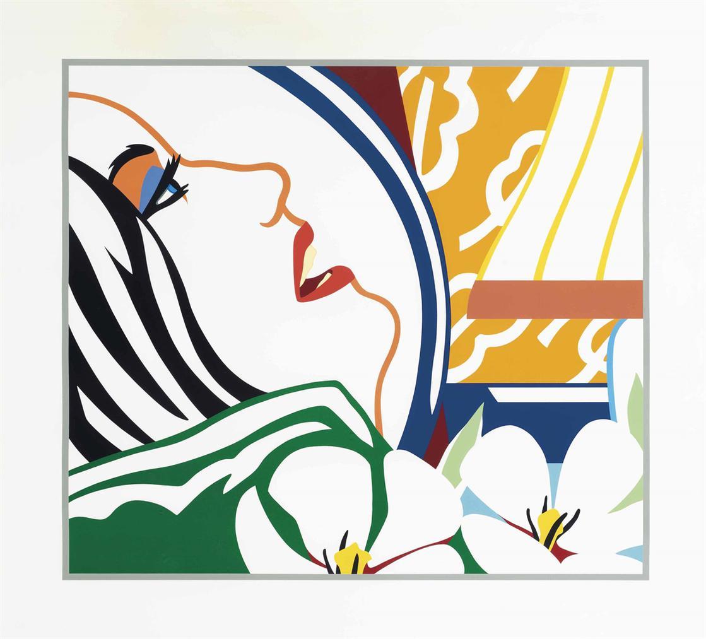 Tom Wesselmann-Bedroom Face With Orange Wallpaper-1987