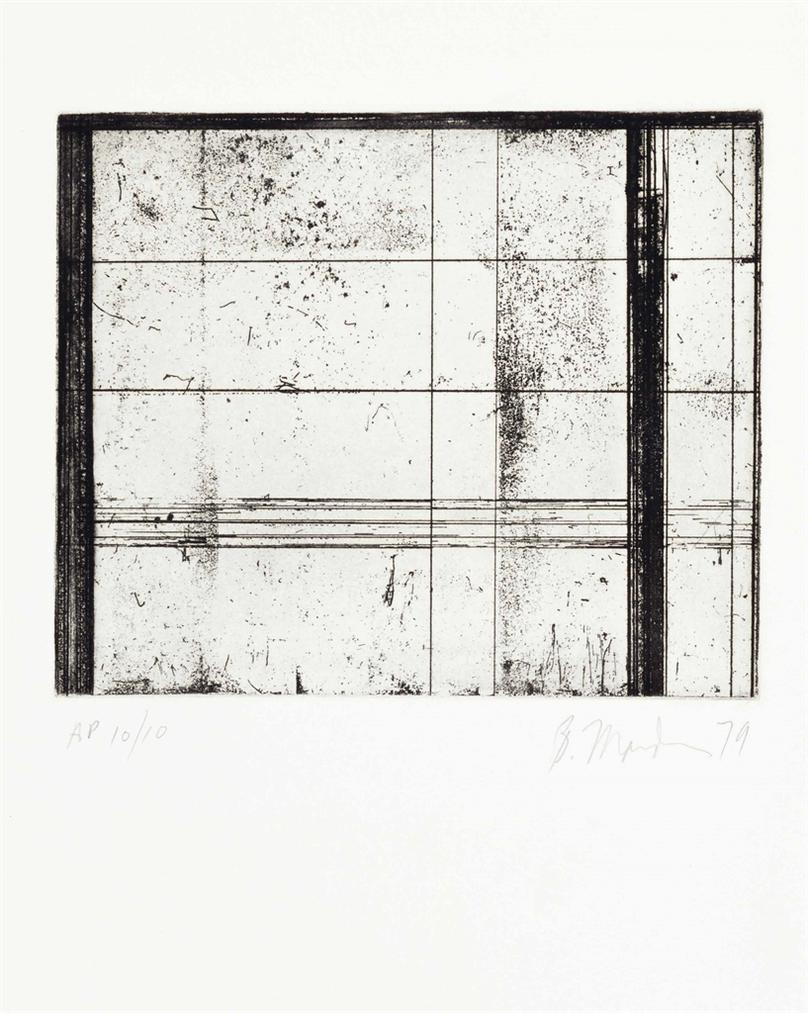 Brice Marden-The Skowhegan Print; Untitled-1979