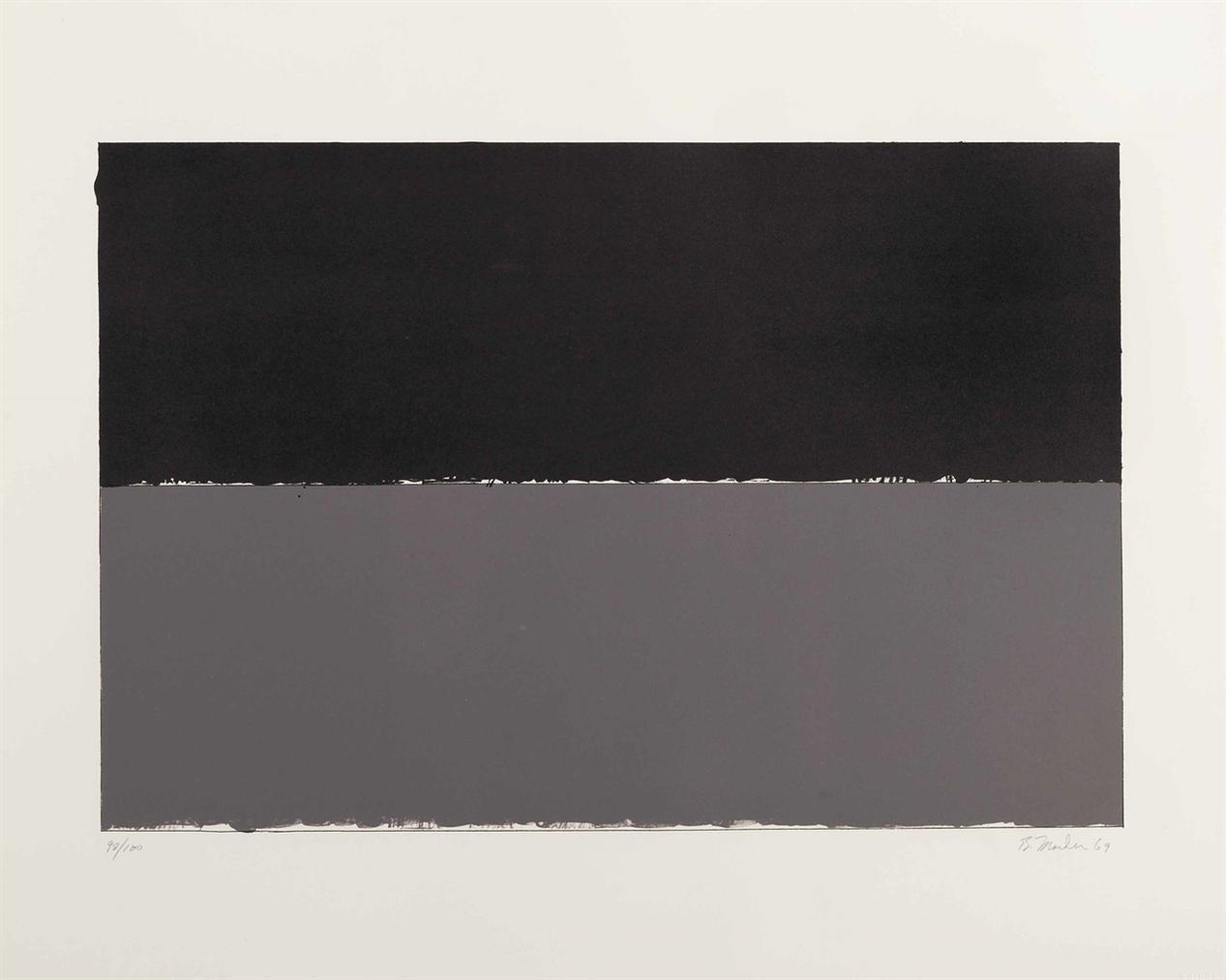 Brice Marden-Gulf, From New York Ten-1969