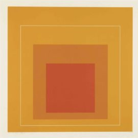Josef Albers-White Line Square XII, From White Line Squares-1966