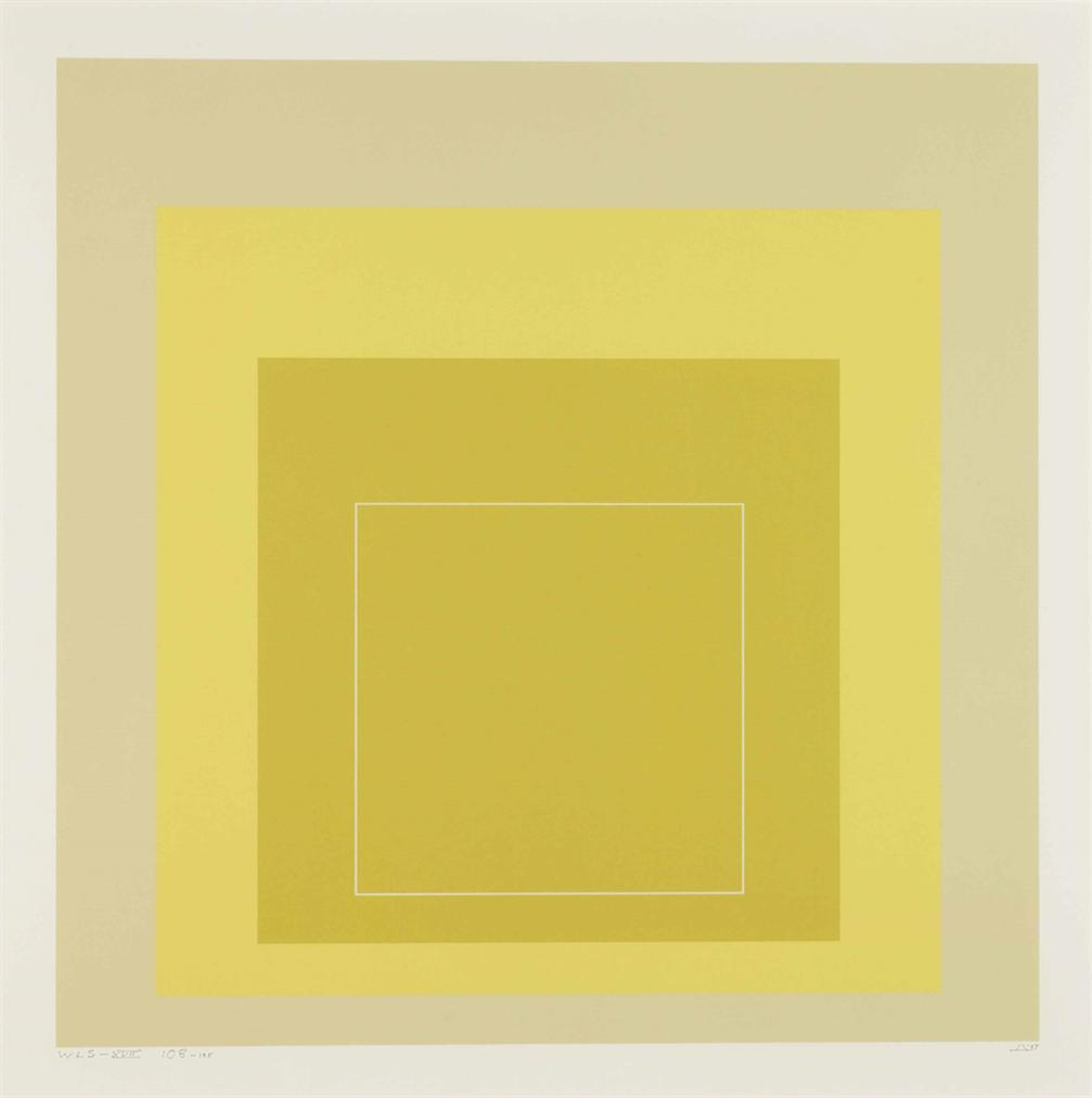Josef Albers-White Line Square XVII, From White Line Squares-1967