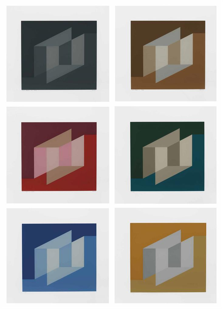 Josef Albers-Never Before: Six Plates-1976