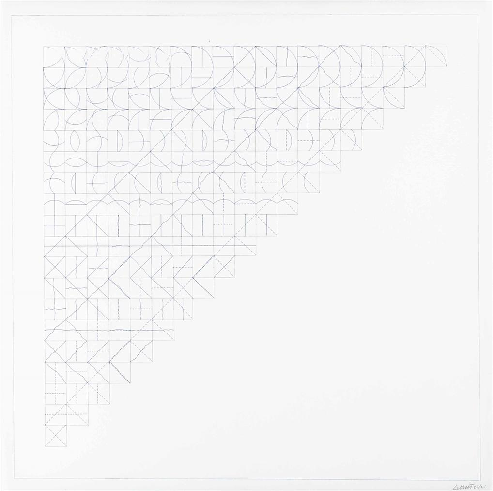 Sol LeWitt-All Combinations Of Arcs From Corners And Sides; Straight, Not-Straight And Broken Lines-1975