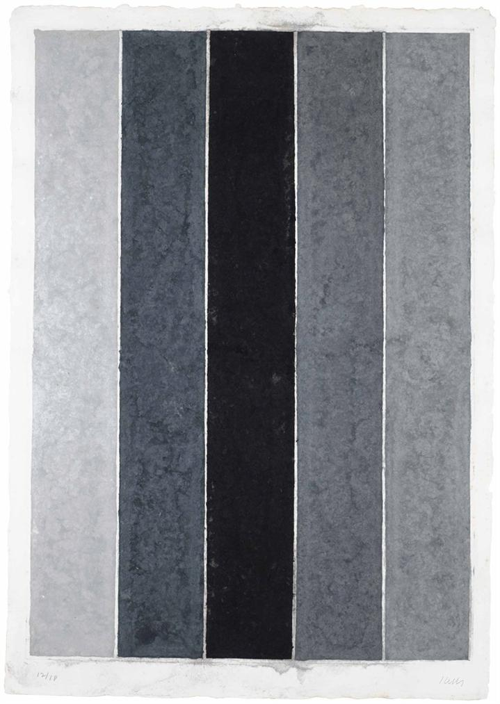 Ellsworth Kelly-Colored Paper Image IX (Four Grays With Black I)-1976