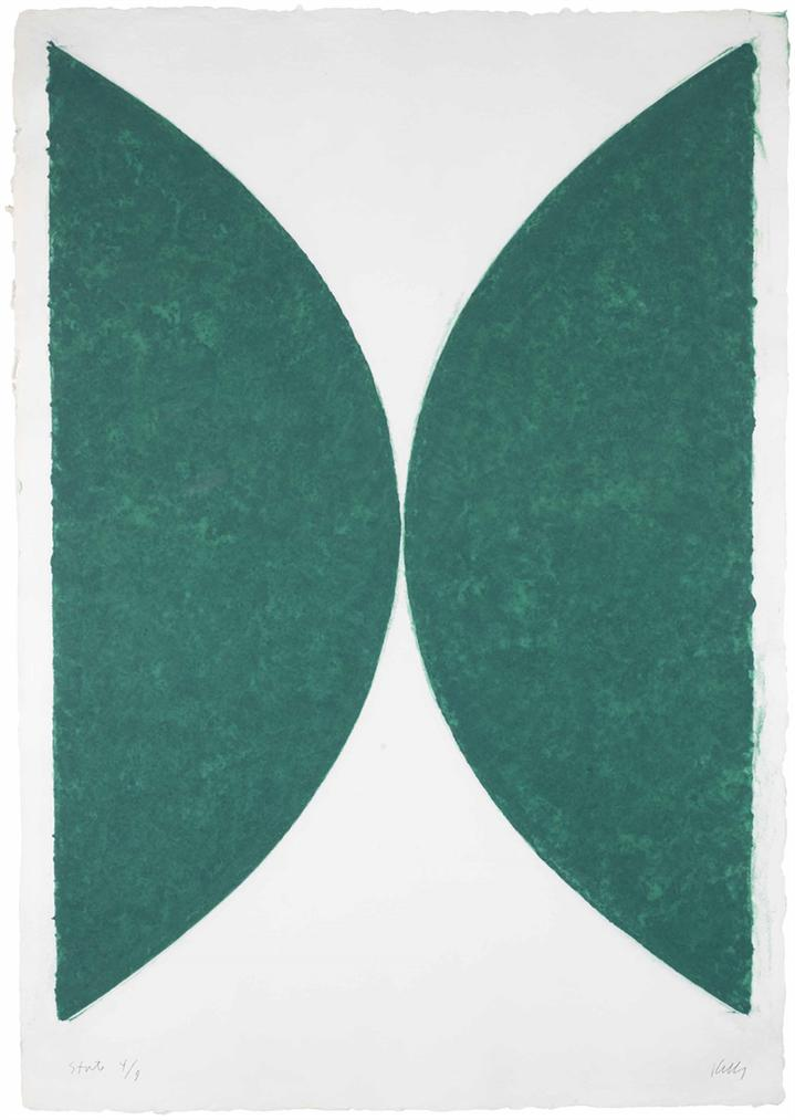 Ellsworth Kelly-Colored Paper Imagell, State (Green Curve)-1976